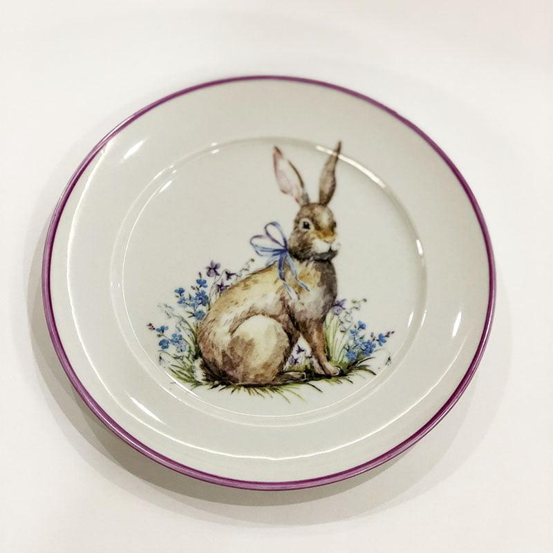 Prato sobremesa coelho