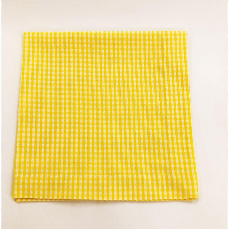 Guardanapo xadrez amarelo
