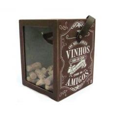 Caixa coleção de rolhas de vinhos Bons Vinhos