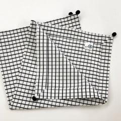 Guardanapo quadriculado preto e branco coleção Meu Jardim