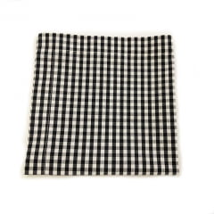 Guardanapo xadrez preto e branco médio coleção Meu Jardim
