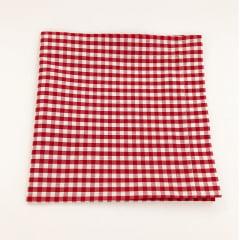 Guardanapo xadrez vermelho e branco coleção Cherry