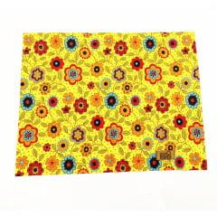 Jogo americano floral amarelo coleção Meu Jardim