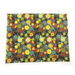 Jogo americano floral cinza coleção Meu Jardim