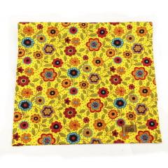 Trilho de mesa grande floral amarelo Meu Jardim