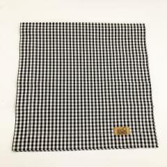 Trilho de mesa grande xadrez preto e branco coleção Meu Jardim