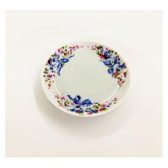 Mini pratinho de cerâmica laço azul