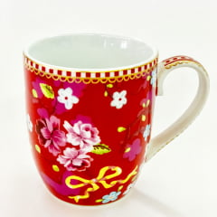 Caneca pequena chinese rosa - floral