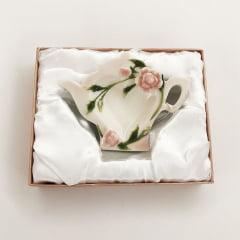 Porta saquinho de chá em porcelana