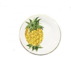 Prato de sobremesa abacaxi