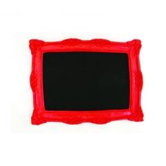 Quadro lousa vermelha