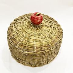 Boleira de bambu maçã