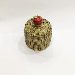 Mini cúpula de bambu maçã