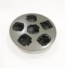 Forma para 6 mini bolos Silver Cozy Village Nordic Ware