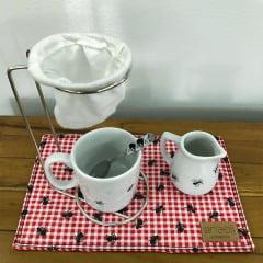 Kit mini coador de café formiguinhas