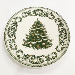 Prato de sobremesa árvore de Natal