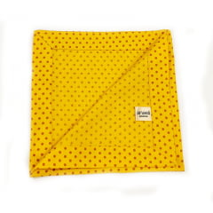 Guardanapo amarelo poás marrom